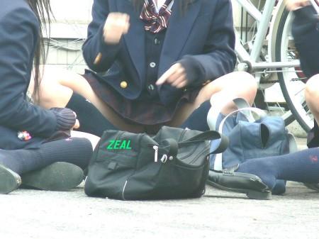 女子校生たちの、しゃがみパンチラ (17)