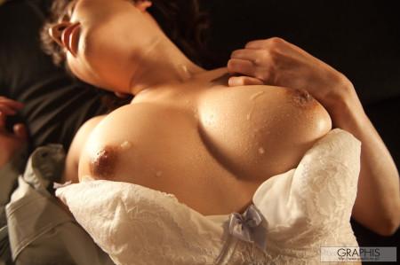濡れた巨乳がエロい、木下柚花