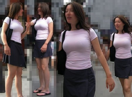 街でガン見しちゃった、着衣巨乳の娘たち (5)
