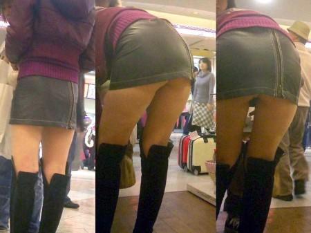 パンツが見えちゃった、パンチラ女性たち (4)