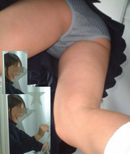 ミニスカートからパンチラしちゃってる女性たち (6)