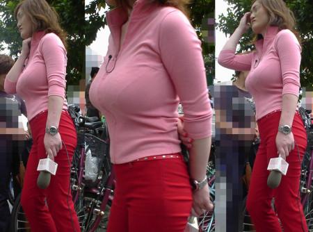 着衣から盛り上がる巨乳 (15)