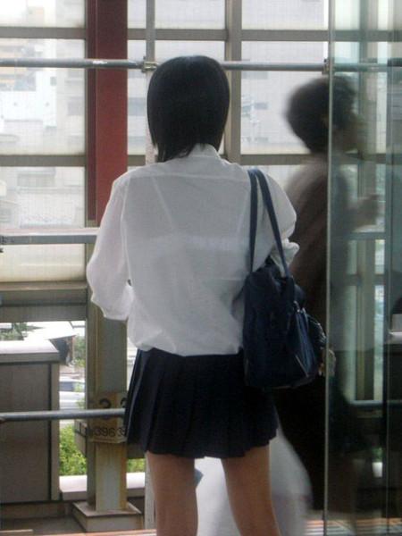 JKたちの透けブラ (5)
