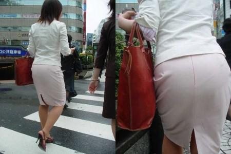 パンツが透けてる女性 (6)