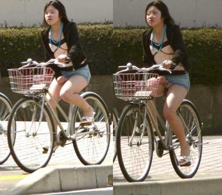 自転車パンチラ (3)