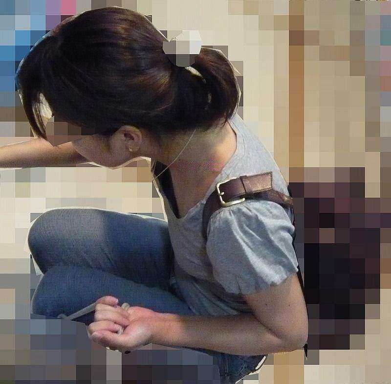 おっぱいチラ見え素人さん (13)
