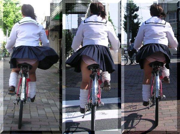 自転車でパンツ見せ (20)