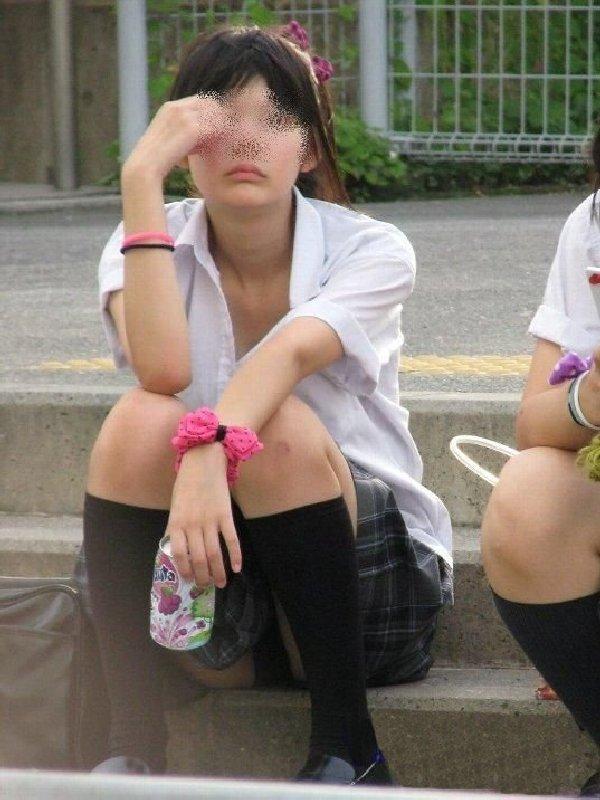 パンツが見えた女子高生 (20)
