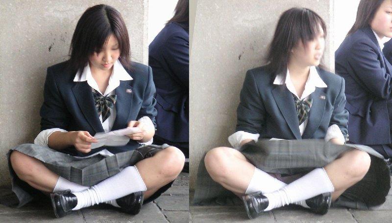 パンツが見えた女子校生 (17)