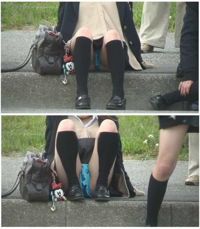 パンツが見えた女子校生 (13)