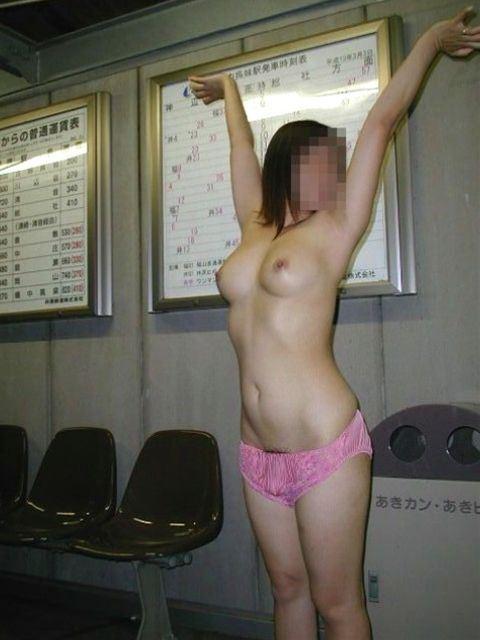 お外で全裸 (8)