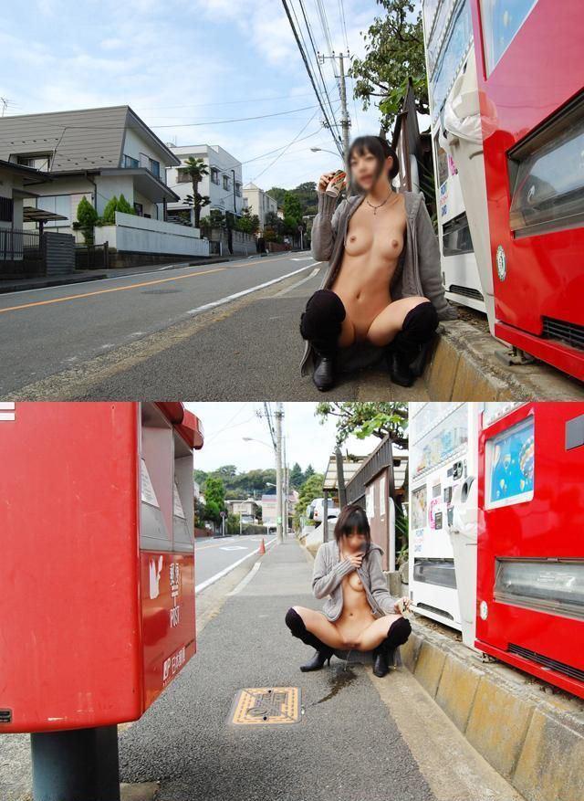 お外で全裸 (10)