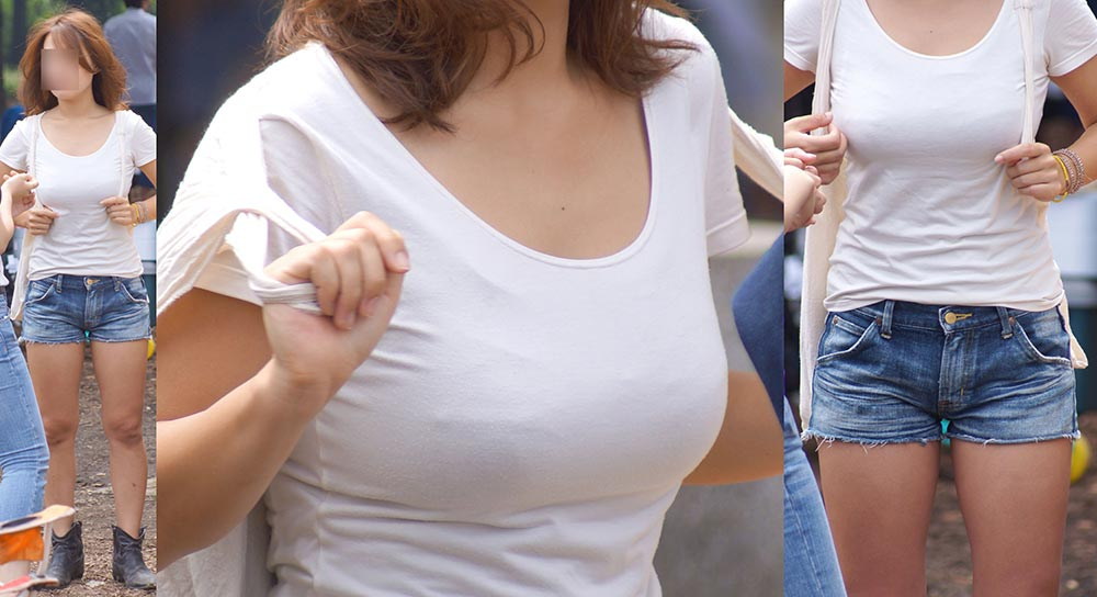 服を着ても爆乳 (6)