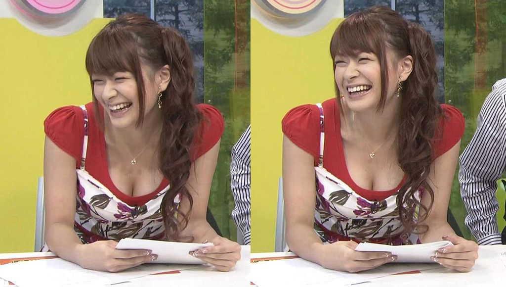 乳房が見えたTV (2)