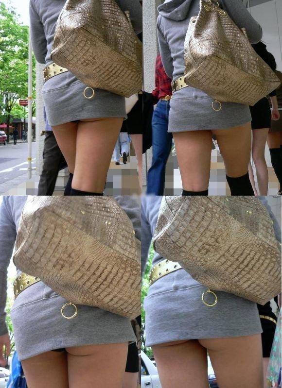 スカートが短くて下着が見えた (16)
