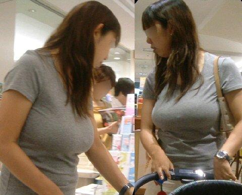 デカい乳房が目立ってしまう女の子 (2)