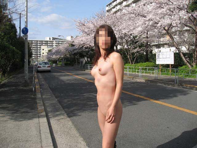 道路で全裸になってしまう女の子 (3)