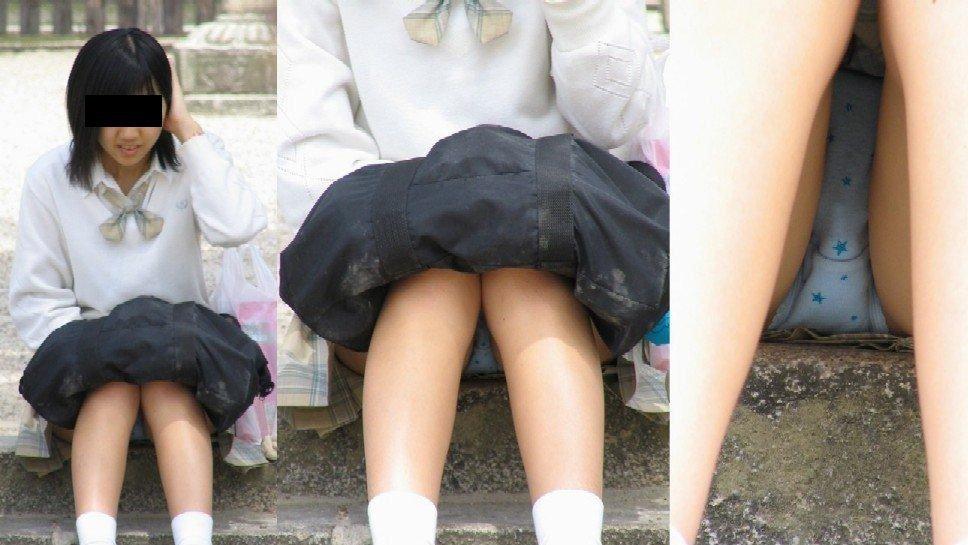女子校生の下着がチラ見え (14)
