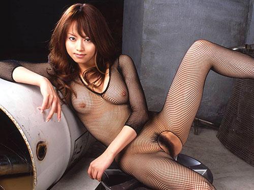 裸に網タイツの組み合わせがエロい (19)