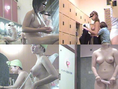女風呂で脱衣して体を洗う女の子 (10)