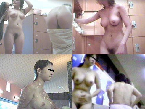女風呂で脱衣して体を洗う女の子 (2)