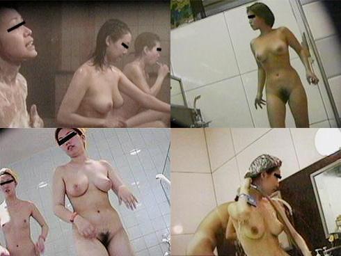 女風呂で脱衣して体を洗う女の子 (6)
