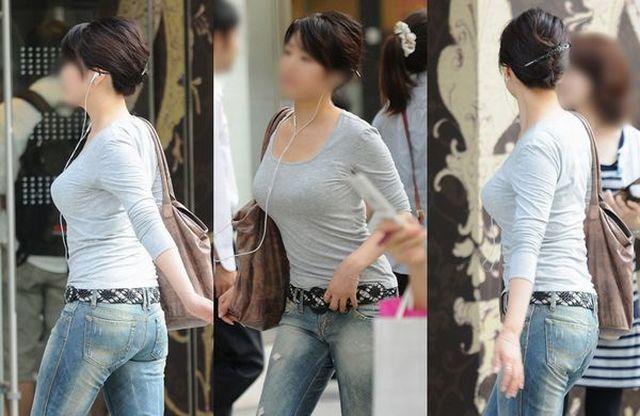 乳房がデカくて服がハチ切れそう (3)