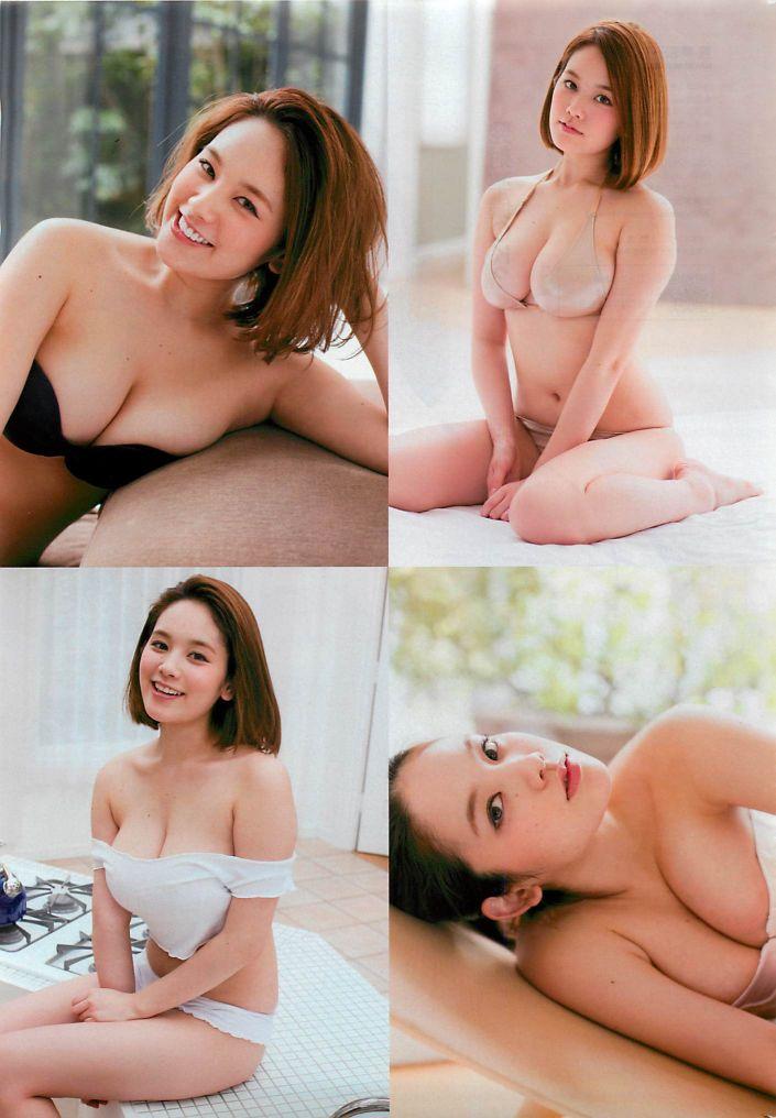 ギリギリまで脱いじゃった巨乳の筧美和子 (4)