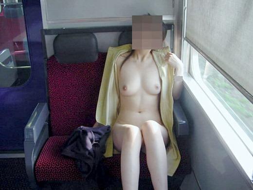 電車内でも服を脱いじゃう露出大好き娘たち (5)