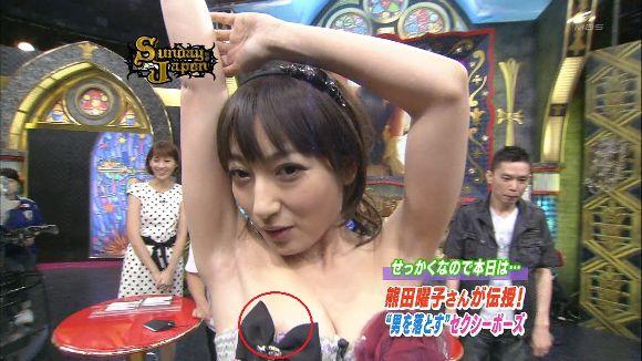 乳首や乳輪までポロリしちゃったTV番組 (3)