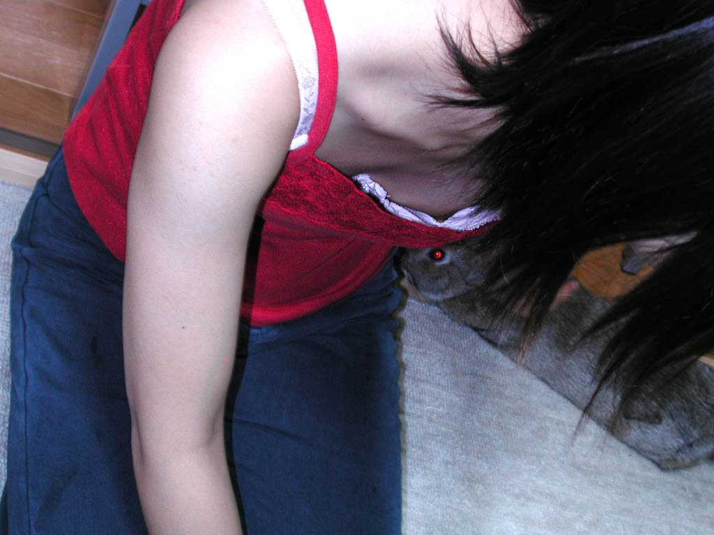 乳頭までもが見えている胸チラのハプニング (5)