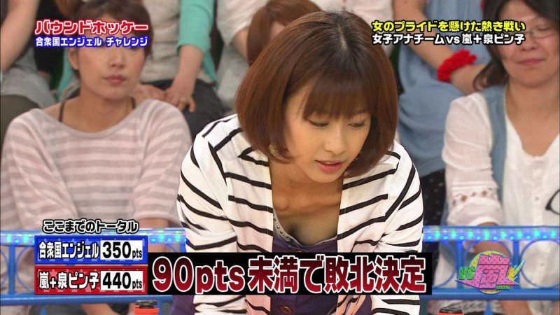 TV番組での谷間チラ見えハプニング (2)