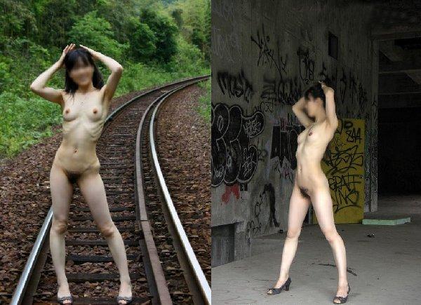 外出先で脱衣して素っ裸になる変態さん (15)