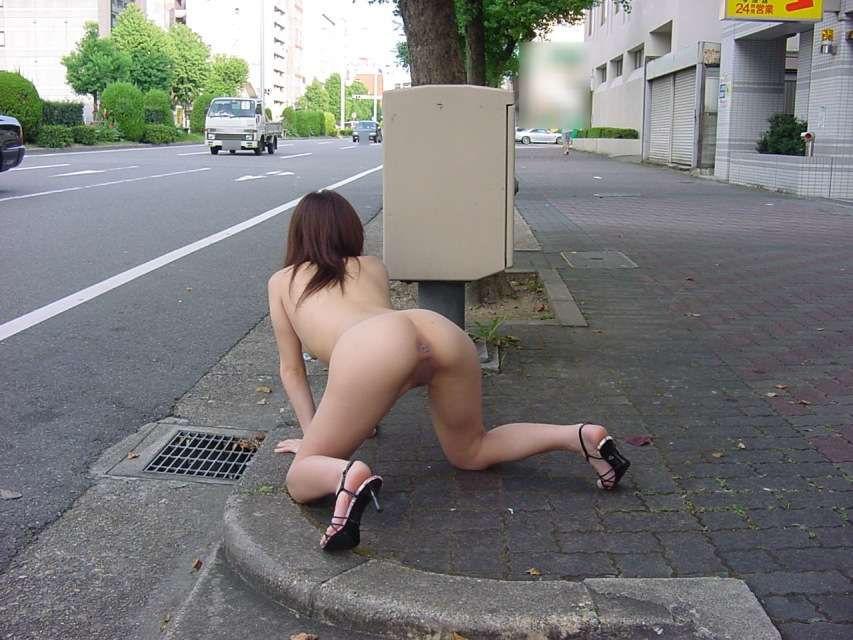 外出先で脱衣して素っ裸になる変態さん (9)