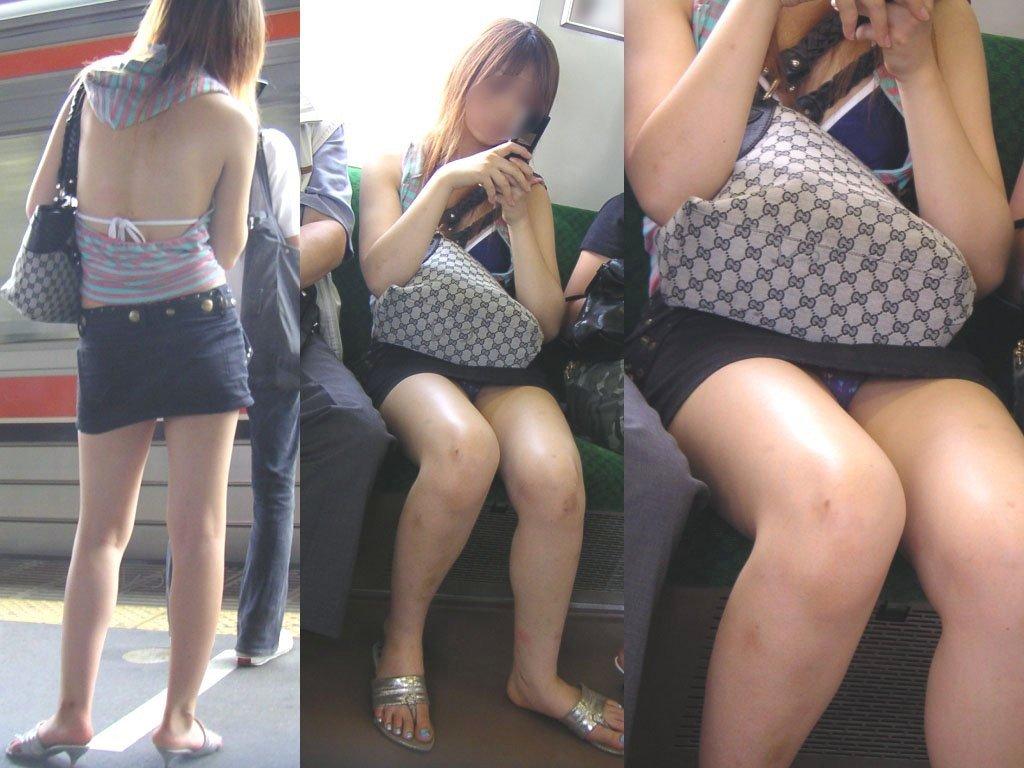 シート正面の無防備な女の子は下着がチラチラ (11)