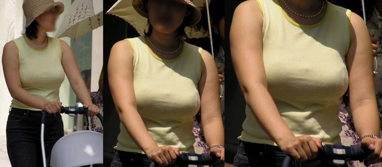 若い奥さんのデカい乳房がエロい (11)