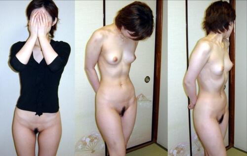 服を着た状態と全裸の状態 (4)