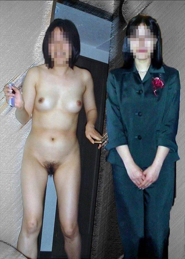 服を着た状態と全裸の状態 (5)