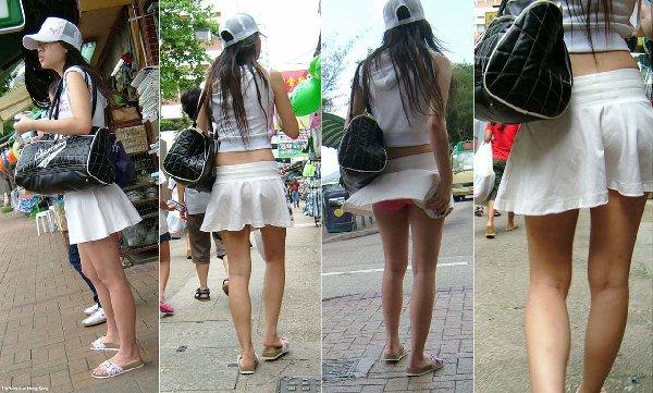 とってもミニなスカートからバッチリ下着が見えた (15)