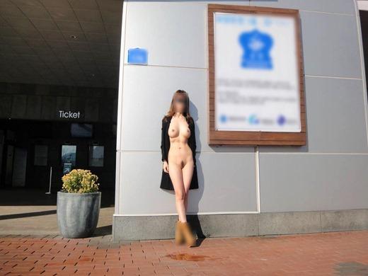屋外で素っ裸になっている素人さん (8)