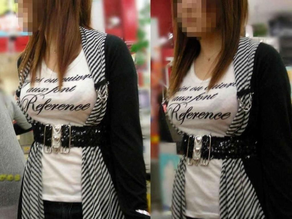 デカすぎる乳房が服を着ても丸分かり (15)
