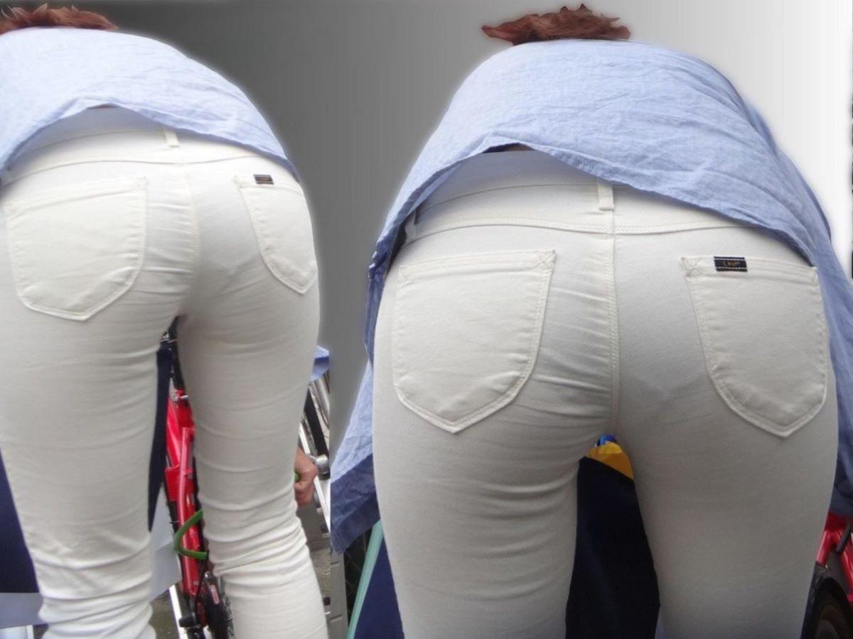 お尻側から下着が透けてる素人さん (10)