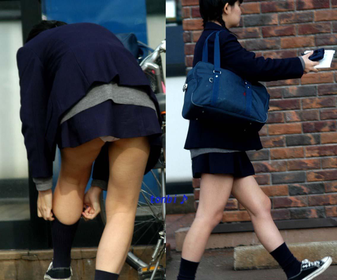 ミニスカートから下着が丸見えになってる素人さん (4)
