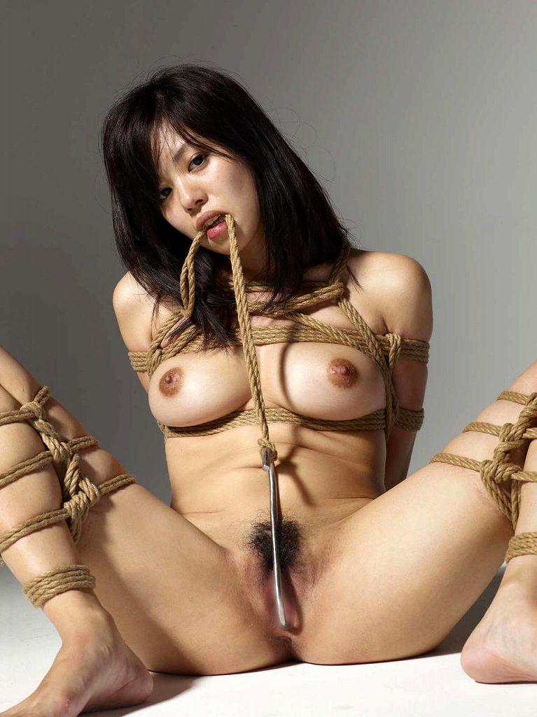 裸で縛られた女の子が美しくエロい (4)