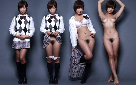 服を着ている状態から全裸になった姿まで (15)
