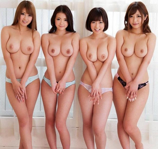 美乳が集合してる壮観な眺め (3)