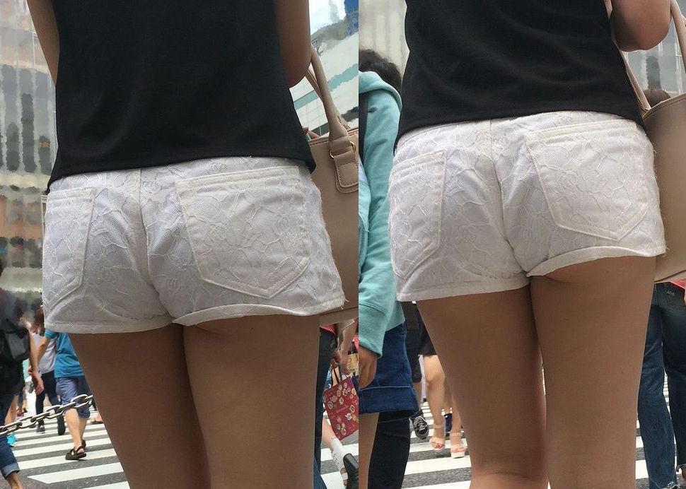 ショートパンツから下着が見えまくり (8)