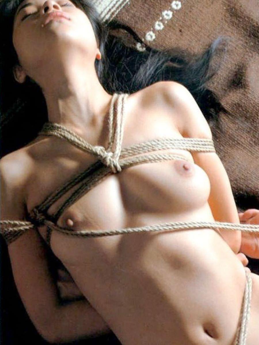 縄で縛られたヌードの女の子たち (9)