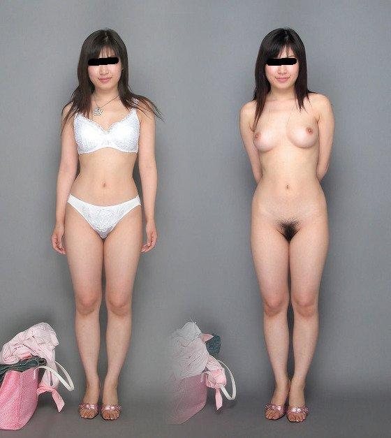 服を着ている状態と脱いだ状態を並べる (17)