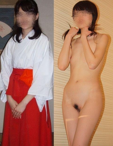服を着ている状態と脱いだ状態を並べる (5)